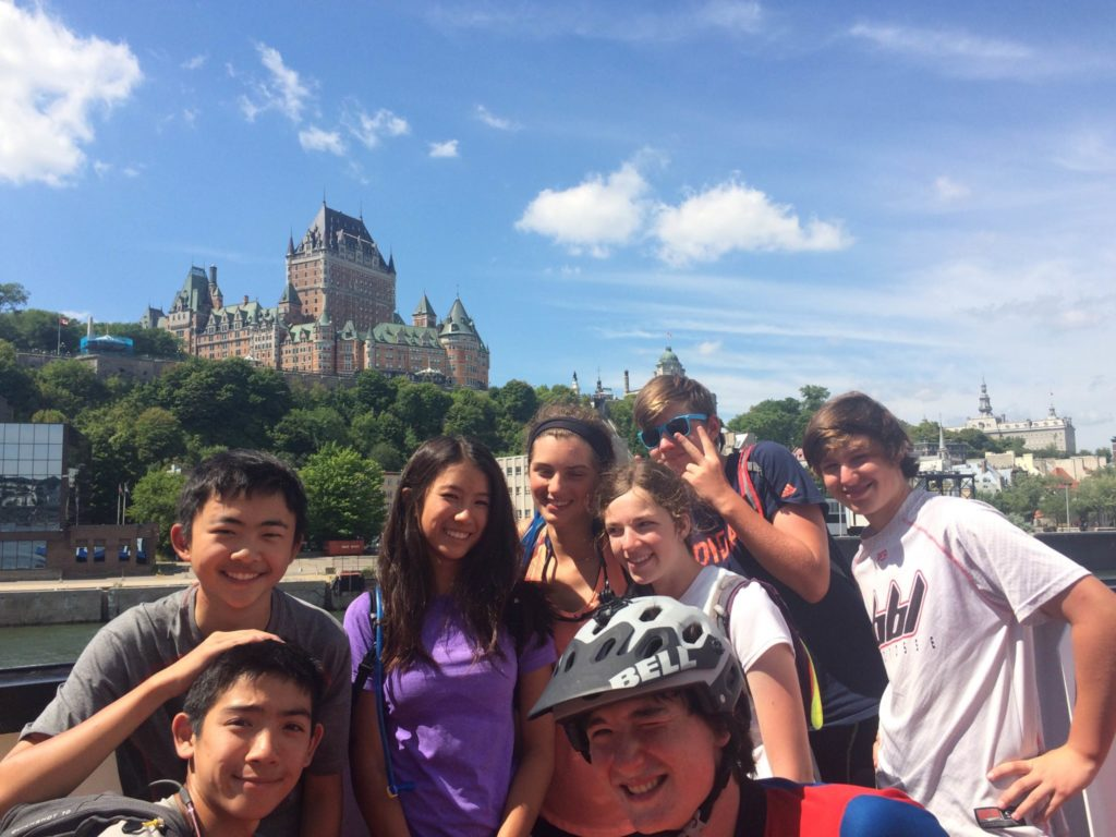 CQA with Château Frontenac in the background